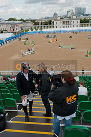 Horse & Country TV interview William Funnell at the Greenwich Park Equestrian Olympic  Test Event
