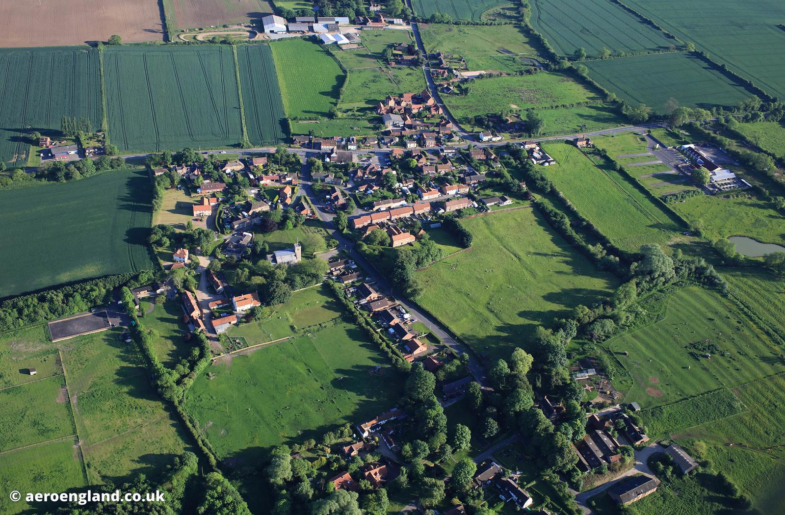 Glentham Lincolnshire aerial photograph