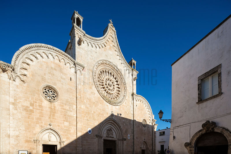 The Facade of the Duomo of Ostuni