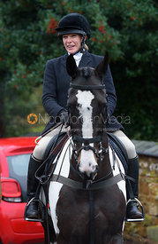 Hilary Butler at the meet - The Cottesmore at Knossington 22/11