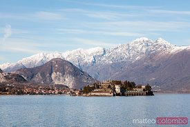 Borromean islands and mountains, Lake Maggiore, Italy