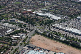Birmingham high level aerial photograph of Tyburn House Island A452 Castle Bromwich