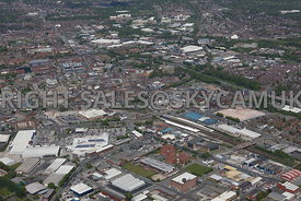 Bolton aerial photograph of the Bolton Shopping Park Trinity Street looking towards Bolton town centre