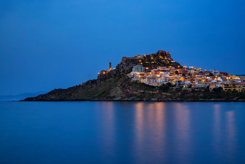 Skyline of Castelsardo at Dusk