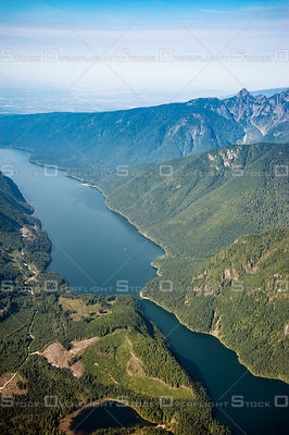 Alouette Lake Looking South to the Fraser Valley BC