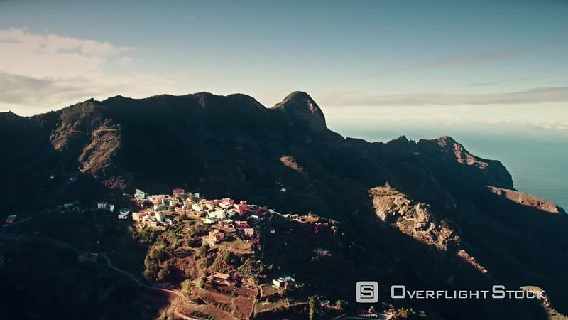 Anaga Mountains, Tenerife North, filmed by drone, Canary Islands