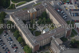 Warrington aerial photograph of the central courtyard  in Chadwick House  Birchwood Park