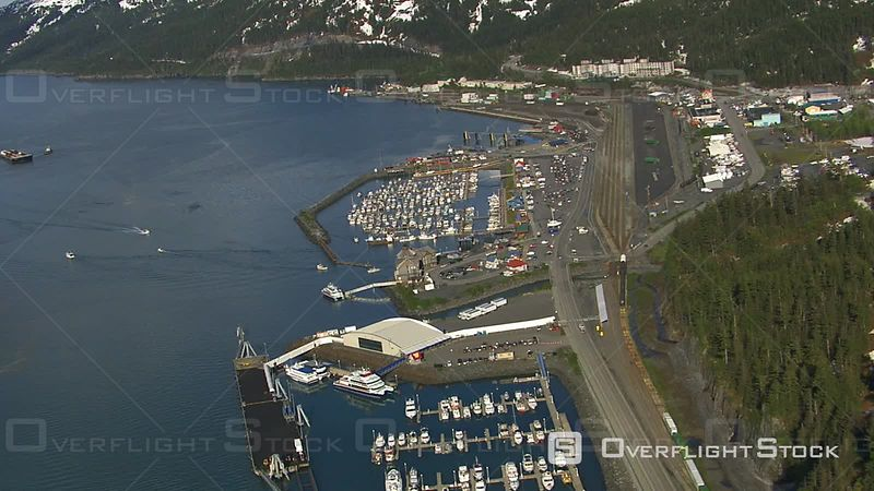 Aerial Footage of Harbor, Valdez, Alaska