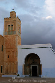 The minaret of the Mosque of the Barber. Kairouan, Tunisia; Portrait