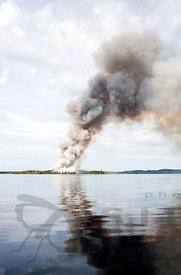 Restoration Burning of the Island Iso-Häntiäinen