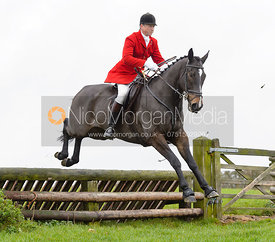 Nicholas Leeming jumping a fence at Stone Lodge Farm