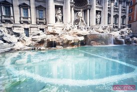 Trevi fountain reflection