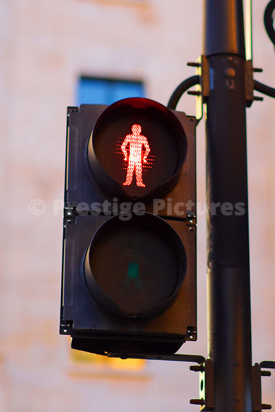 Pedestrian Lights Showing Red Man