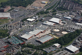 Stockport aerial photograph of the Peel centre Great Portwood Street