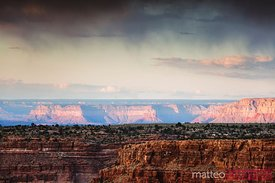 Storm over the Grand Canyon at sunset, USA