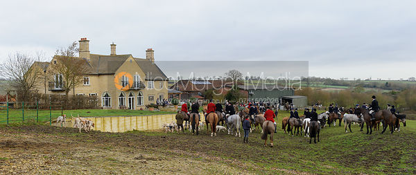 The Cottesmore Hunt at Town Park Farm 3/2