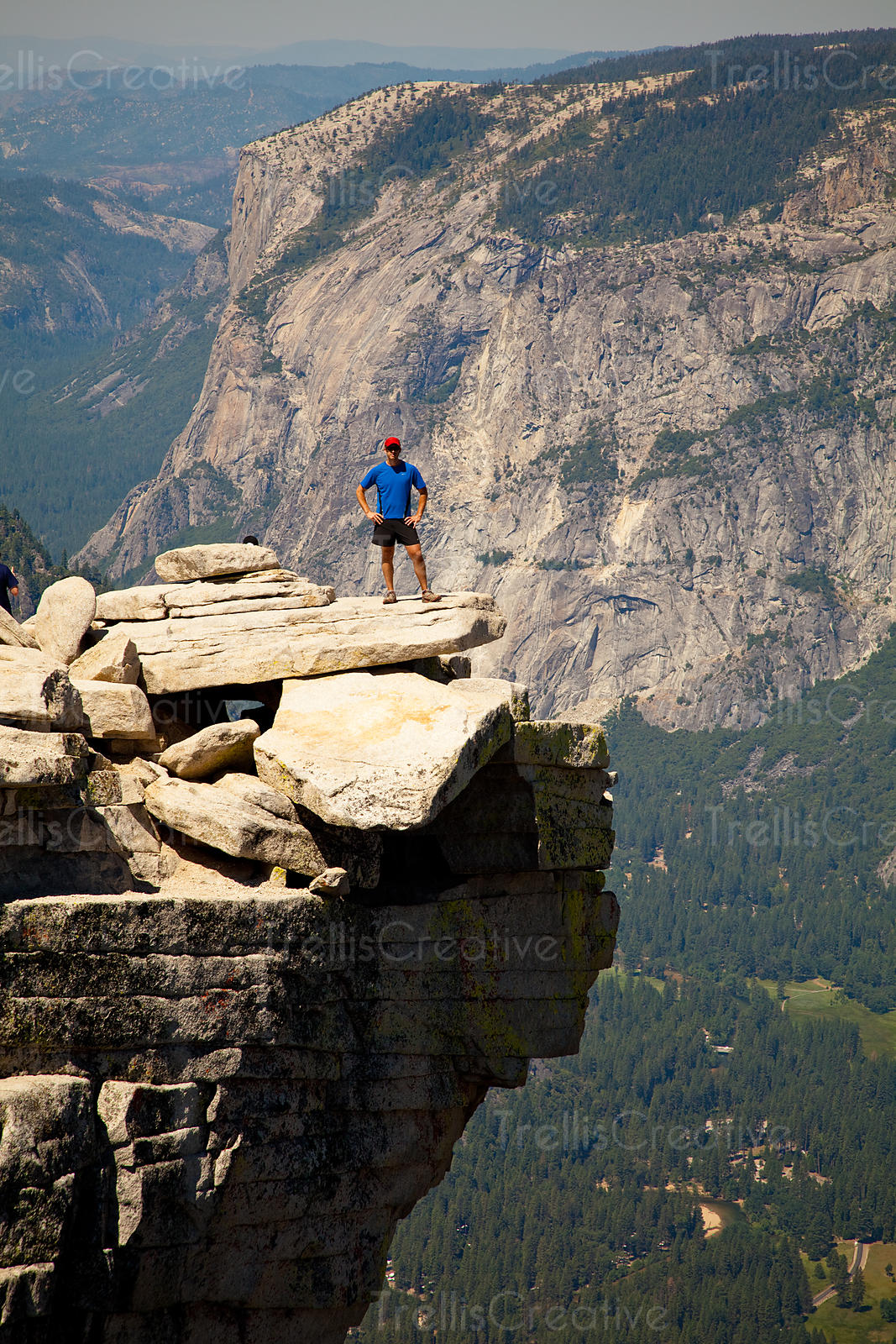 Jason Tinacci on the top of Half Dome, Yosemite National Park, California