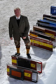 Olaf Kroeger at The Cresta Run of the SMTC Saint Moritz Tobogganing Club since 1884/85