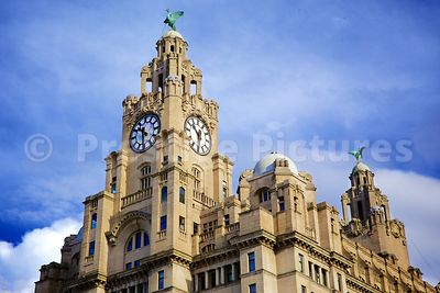 The Royal Liver Building Clock Towers with the Two Liver Birds atop