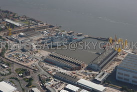 Birkenhead aerial photograph of Cammell Laird Shipyards