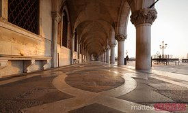 Colonnade of Doges palace, Venice, Italy