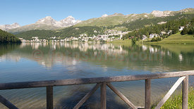 Photo Saint St. Moritz Engadine Summer Lake Mountains Foto