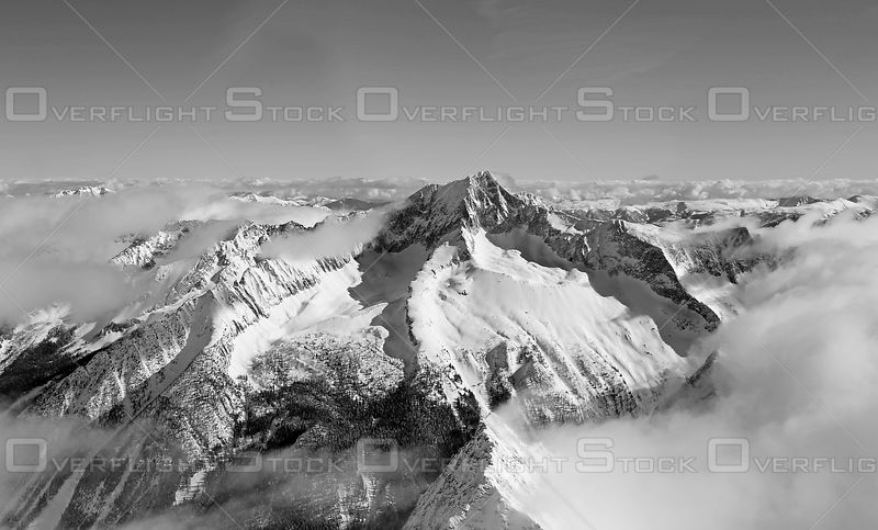Black and White of Mount Findlay Purcell Range BC