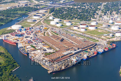 Marine terminal and industrial facilities on Houston ship channel