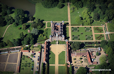 aerial photograph of Blickling Hall Norfolk England UK