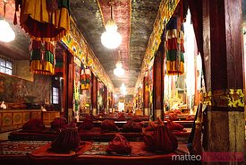 Interior of Samye monastery, Tibet
