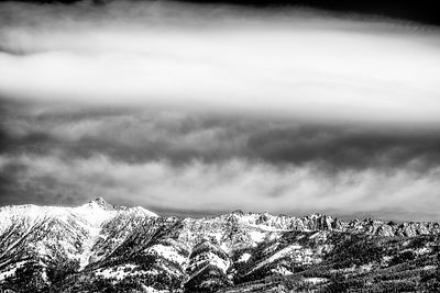 Spanish Peaks Black and White