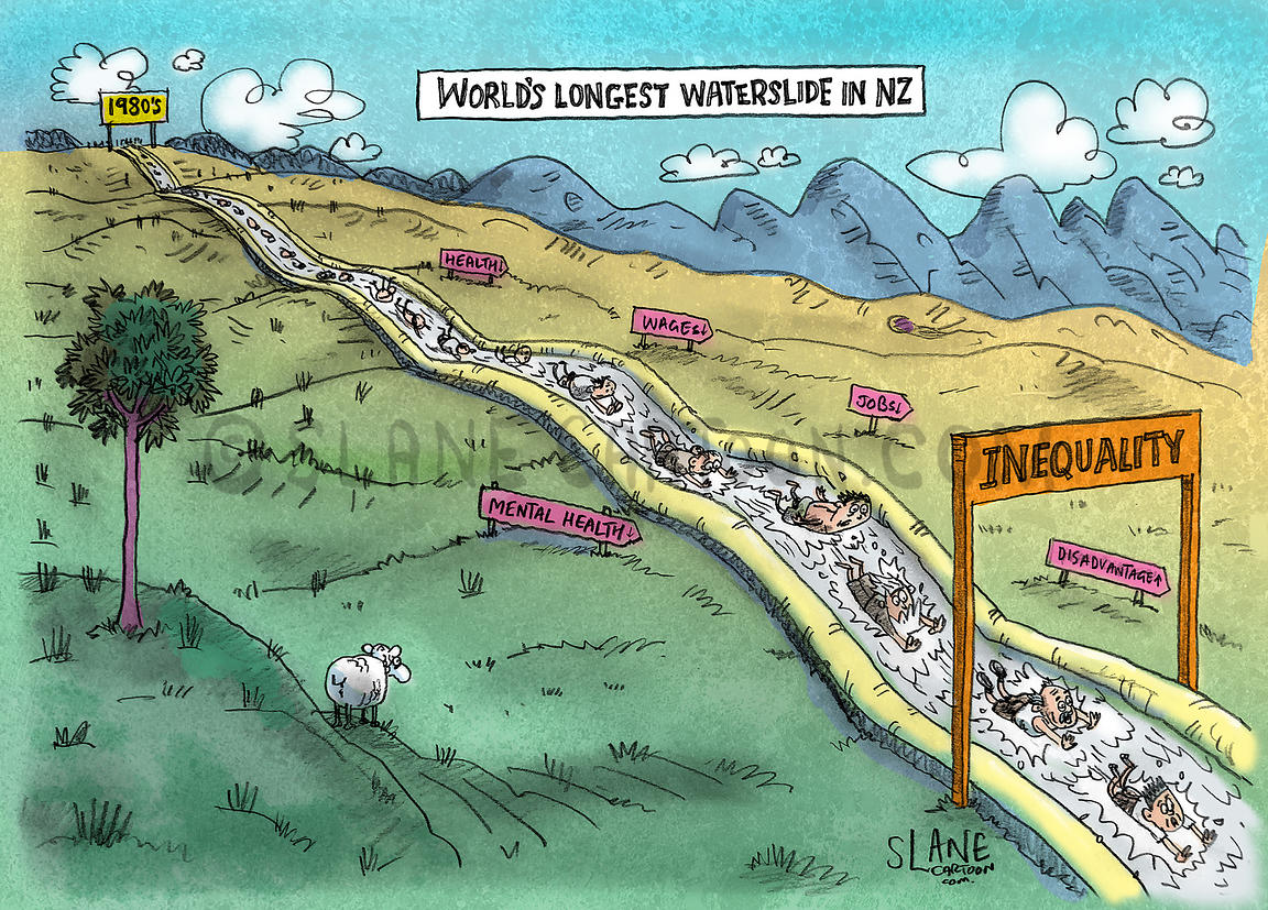 Inequality Waterslide in New Zealand