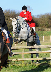 Nicholas Leeming MFH jumping a hunt jump at Burrough House