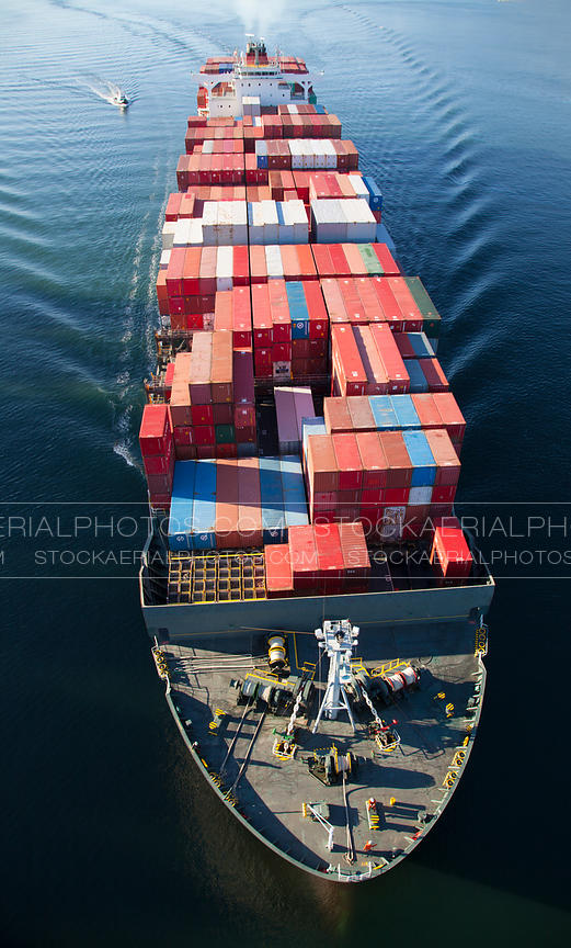 Container Ship, Aerial Photo