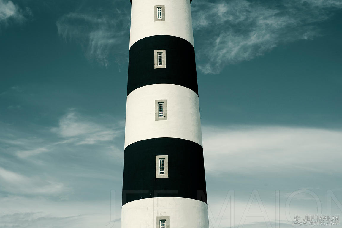 Stripped lighthouse