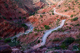 Dirt road above River Chico in Colorado Canyon near Villa Abecia, Chuquisaca Department, Bolivia