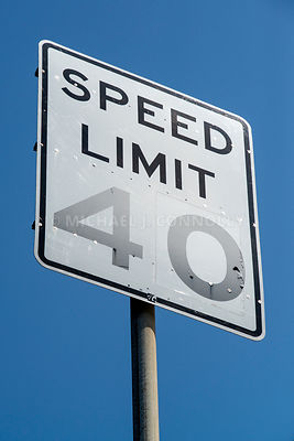 40 MPH Speed Sign