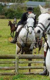 Jumping near Lambing's - The Cottesmore Hunt at Somerby, 2-11-13