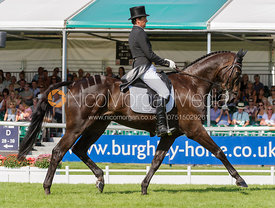Marcelo Tosi and ELEDA ALL BLACK - dressage phase,  Land Rover Burghley Horse Trials, 5th September 2013.