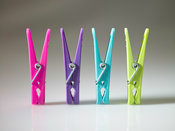 Clothes pegs in a row