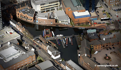 aerial photograph of the Gas Street Basin Birmingham   West Midlands England UK