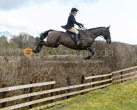 Hilary Butler jumping a fence at Burrough House