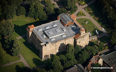 aerial photograph of  Colchester Castle , United Kingdom