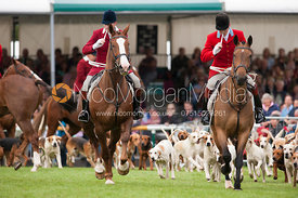 Daniel Cherriman (Pytchley) and Ollie Finnegan (South Notts) - Parade of Hounds - Land Rover Burghley Horse Trials, 2nd September 2012.