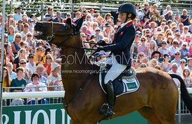 Sarah Bullimore and REVE DU ROUET, show prize giving, Land Rover Burghley Horse Trials 2018