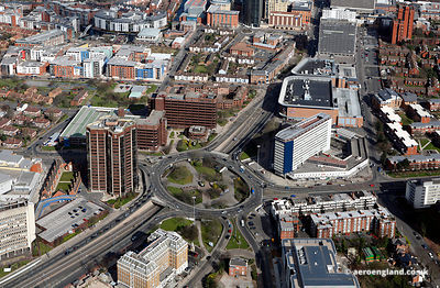aerial photograph of Five Ways, Birmingham  England UK.