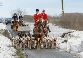 Chris Edwards arriving at the meet - The Cottesmore Hunt at Grange Farm