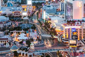 Aerial view of the Strip, Las Vegas, Nevada, USA