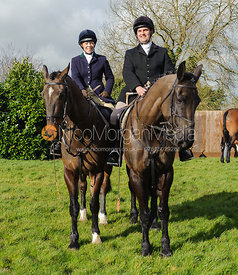 Etti and Jeremy Dale - The Belvoir Hunt at Hose