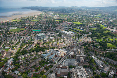 Aerial view of Ballsbridge, Dublin, Ireland